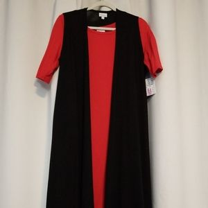 NWT Medium Black LulaRoe Joy Longline Vest
